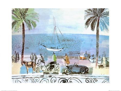 Promenade a Nice Art Print