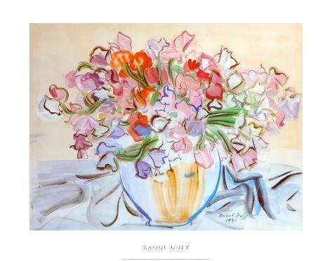 Vase de Pois de Senteur Art Print