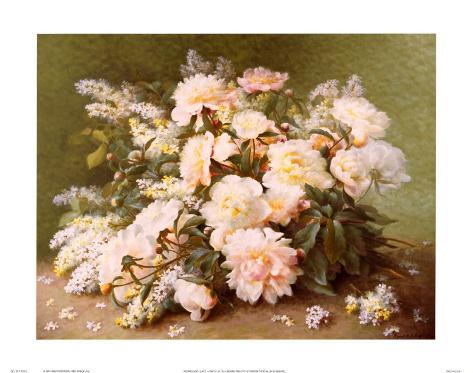 Peonies and Lilacs Art Print