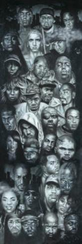 Rap Gods (Collage) Music Poster Print Poster