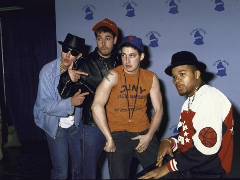 Rap Group the Beastie Boys Adam Horovitz, Adam Yauch, and Mike Diamond with Dj Hurricane Premium Photographic Print