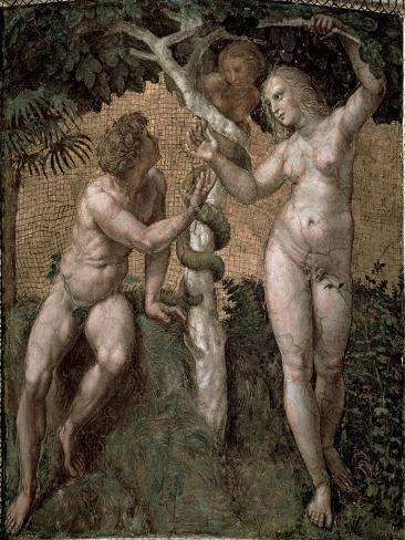Adam and Eve, from the 'Stanza Della Segnatura', c.1508-11 Lámina giclée