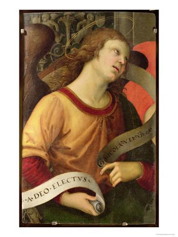 Angel, from the Polyptych of St. Nicolas of Tolentino, 1501 Lámina giclée