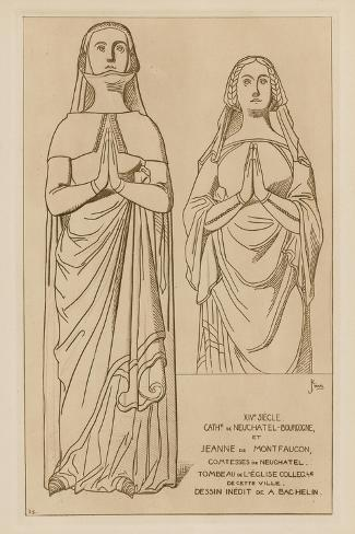 Countesses of Neuchatel, Fourteenth Century Giclee Print