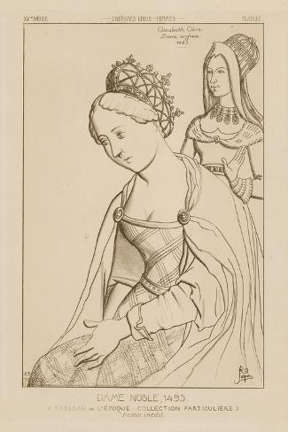 Elizabeth Clere, English Noble Woman, 1495 Giclee Print