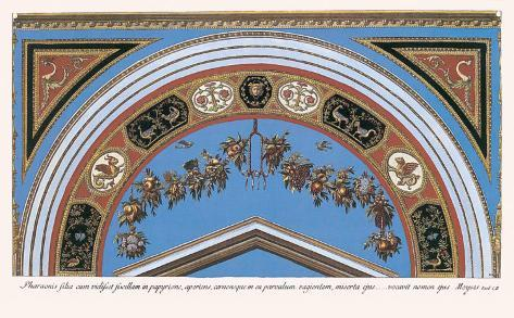 Loggia in the Vatican I (detail) Art Print