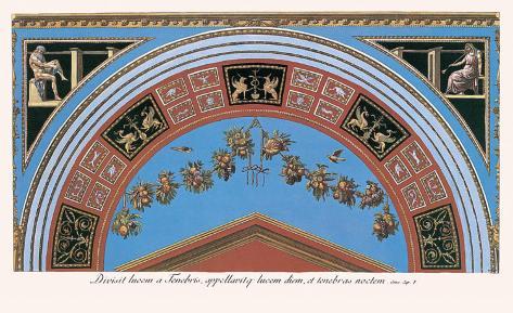 Loggia in the Vatican III (detail) Impressão artística