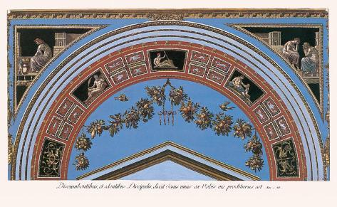 Loggia in the Vatican IV (detail) Impressão artística