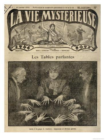 Raphael N'Hutter Attends a Seance with an Unnamed French Medium Giclee Print