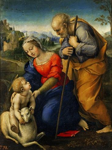 The Holy Family with a Lamb Giclee Print