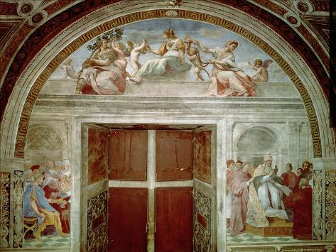 The Judicial Virtues: Pope Gregory IX Approving the Vatical Decretals Lámina giclée