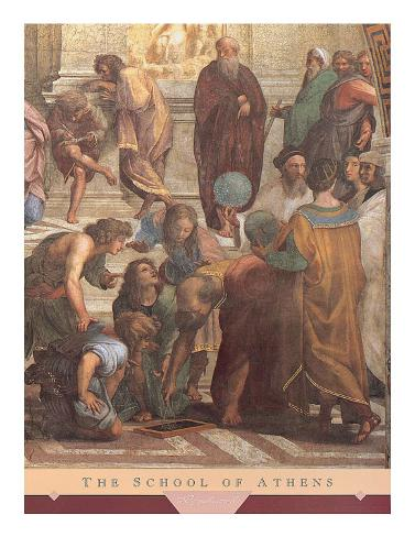 The School of Athens, c.1511 (detail) Art Print