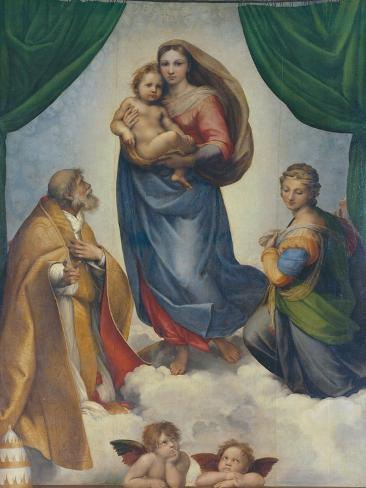 The Sistine Madonna, about 1513 Giclee Print