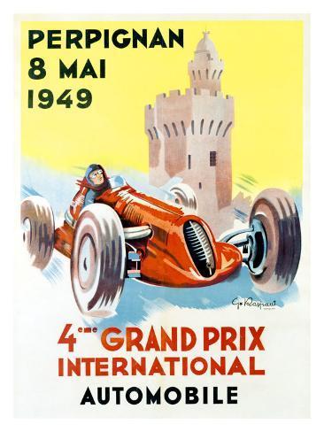 4th Grand Prix, Perpignan, 1949 Giclee Print