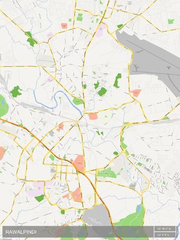 Rawalpindi Pakistan Map Prints at AllPosterscomau