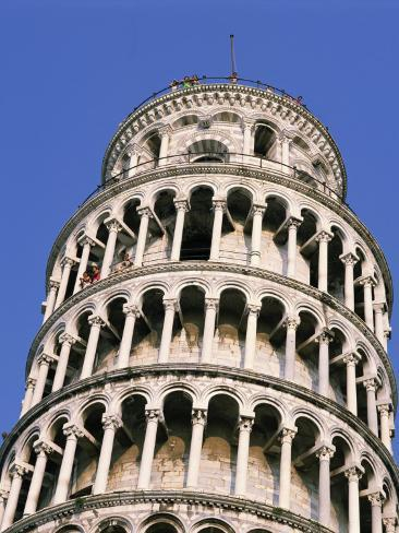 Leaning Tower, or Campanile, 179Ft High, 14Ft Out of Perpendicular, at Pisa, Tuscany, Italy Photographic Print