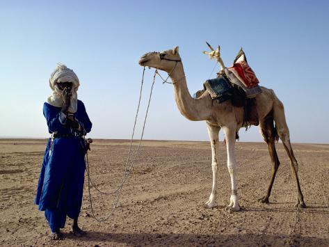 Tuareg Tribesman and Camel, Niger, Africa Photographic Print