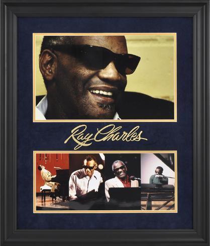 Ray Charles Limited Edition Framed Presentation Framed Memorabilia