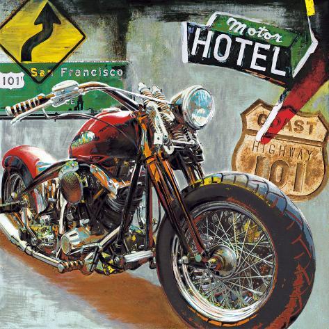 Highway 101 Art Print