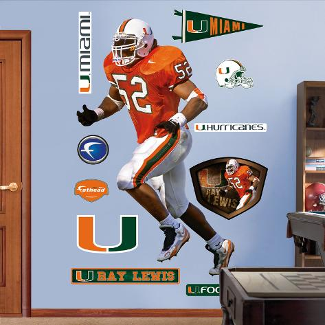 Ray Lewis Miami Hurricanes Wall Decal