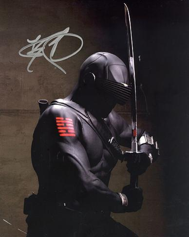 Ray Park GI Joe In Black Suit Autographed Movie Photo (Hand Signed Collectable) Photo