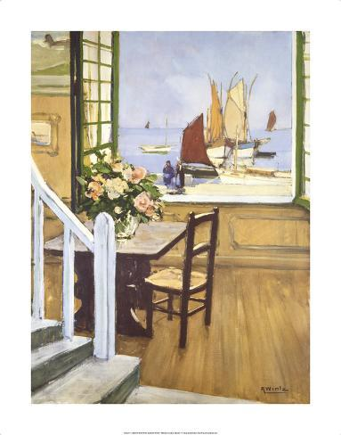 A Breton Window Premium Giclee Print