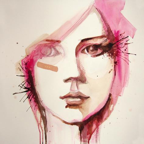 Watercolor Portrait of Beautiful Girl | Handmade | Self Made | Painting Art Print