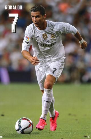 Real Madrid- Cristiano Ronaldo 2015 Pôster