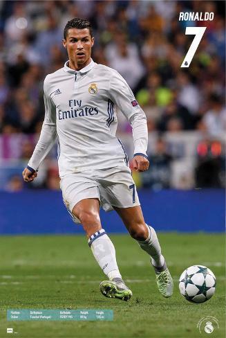 Real Madrid- Ronaldo 16/17 Póster