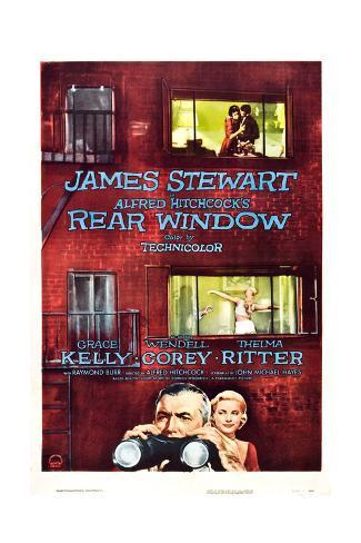 Rear Window, Grace Kelly, James Stewart, 1954 Giclee Print