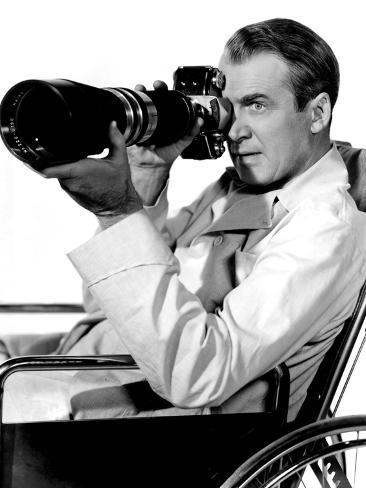 Rear Window, James Stewart, 1954 Photo