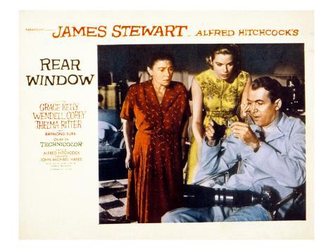 Rear Window, Thelma Ritter, Grace Kelly, James Stewart, 1954 Photo