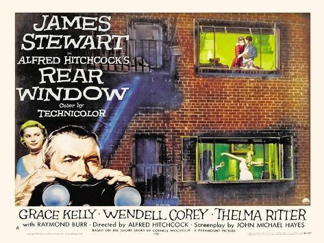 Rear Window, UK Movie Poster, 1954 Art Print