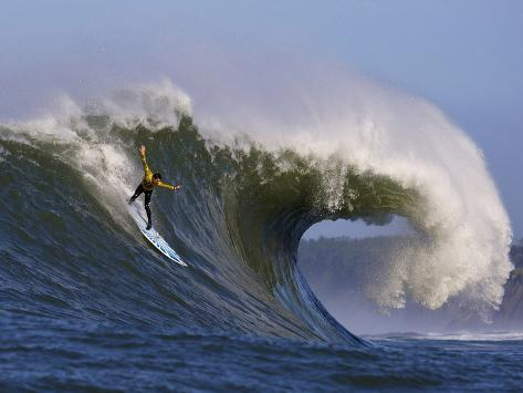 Mavericks Surf Competition 2010, Half Moon Bay, California, Usa Photographic Print