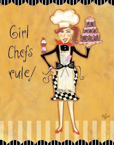 Girl Chefs Rule Art Print