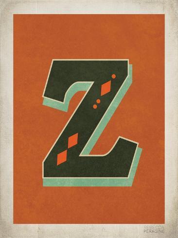 Letra z vintage lminas por rebecca peragine en allposters letra z vintage lmina urtaz Choice Image