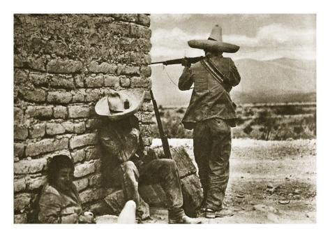 Rebel Snipers Attacking the City of Juarez, 10th May 1911 Gicléetryck
