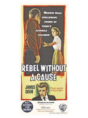 Rebel Without a Cause, Australian Movie Poster, 1955 Stretched Canvas Print