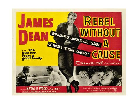 Rebel Without a Cause, James Dean (Center), 1955 Stretched Canvas Print