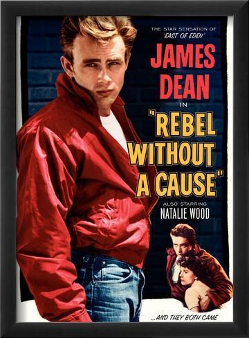 Rebelde Sem Causa, 1955 Impressão giclée emoldurada