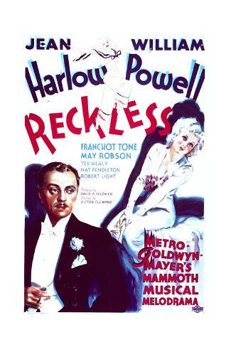 Reckless - Movie Poster Reproduction Art Print