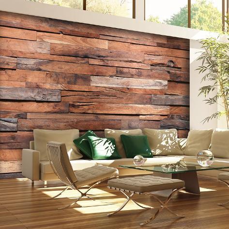Reclaimed Wood Wall Mural Wallpaper Mural Allposters Ca