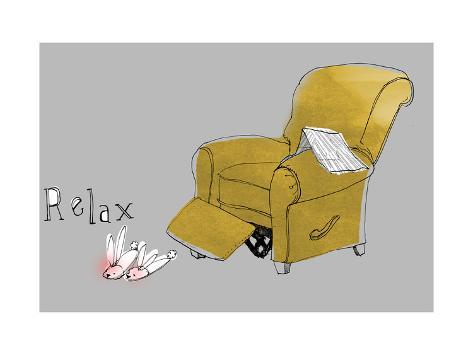 Recliner Relaxation Art Print
