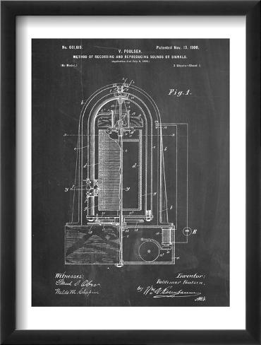 Recording Device Patent 1900 Framed Art Print