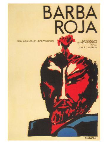 Red Beard, Cuban Movie Poster, 1964 Art Print