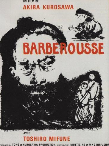 Red Beard, French Movie Poster, 1964 Art Print