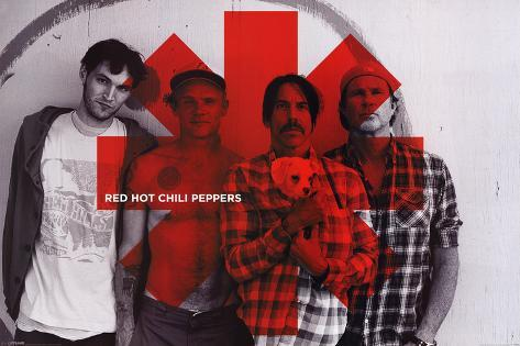 Red Hot Chili peppers – Red Asterix        Poster