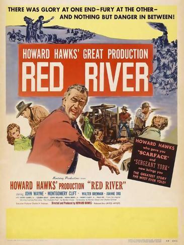 Red River, 1948 Art Print