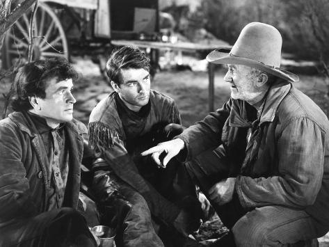 Red River, from Left: Noah Beery Jr., Montgomery Clift, Walter Brennan, 1948 Photo