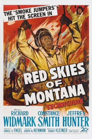 Red Skies of Montana, 1952 Art Print